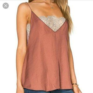 NEW Free People Deep V lace bandeau cami rust